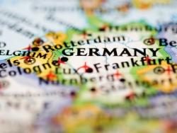 Deutschland auf einer Karte markiert