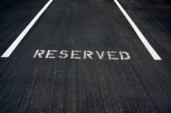 Ein reservierter Parkplatz