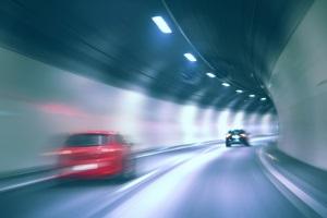 Blitzer ohne Blitz sind aus Sicherheitsgründen in Tunneln zu finden.