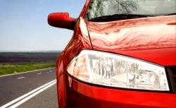 Ein rotes Auto