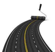 Wie sieht eine Fahrbahnbegrenzung und Fahrstreifenbegrenzung aus?